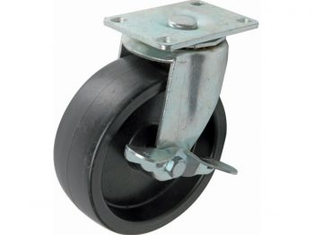 5-Inch Tool Box Swivel Plate Caster with Side Brake, 400-lb Load Capacity
