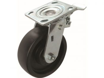 6-Inch Tool Box Swivel Plate Caster with Brake, 600-lb Load Capacity