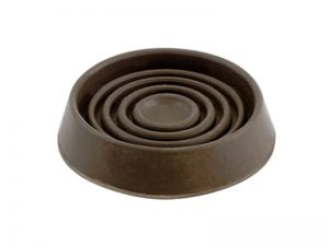 1-3/4-Inch Round Rubber Furniture Cups, Brown, 4-Pack