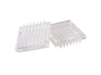 1-7/8-Inch Spiked Furniture Cup, Clear Plastic, 4-Pack