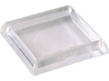 1-7/8-Inch Smooth Plastic Furniture Cups, Clear, 4-Pack