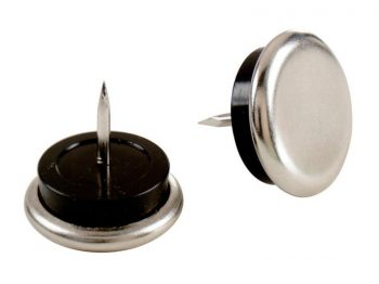 1-Inch Nail On Furniture Glides with Satin Nickel Base, 4-Pack