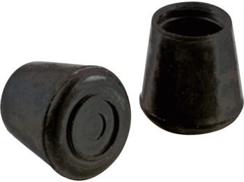 1/2-Inch Inside Diameter Rubber Leg Tips, 4-Pack, Black