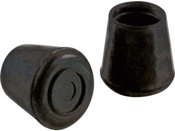 1/2-Inch Inside Diameter Rubber Leg Tips, 4-Pack, Black