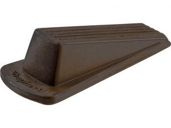 Heavy Duty Rubber Door Wedge, Brown