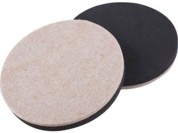5-Inch Reusable, Round, Heavy Duty FeltGard Slider Pads, 4-Pack