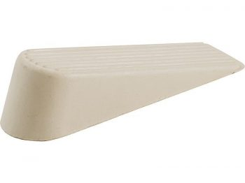 Rubber Door Wedges, Off-White, 2-Pack