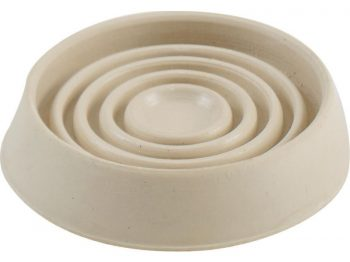 1-1/2-Inch Round Rubber Furniture Cups, Off-White, 4-Pack