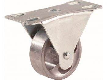 2-1/2-Inch Cast Iron Rigid Plate Caster, 175-lb Load Capacity