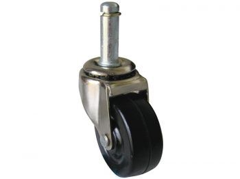 2-1/2-Inch Stem Caster with 7/16-Inch Stem Diameter, 85-lb Load Capacity