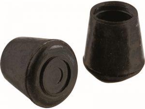 1-1/2-Inch Inside Diameter Rubber Leg Tips, 2-Pack, White