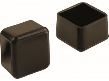 1-Inch Plastic Square Leg Tips, 4-Pack