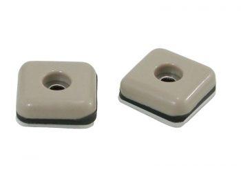 1-Inch Square Adhesive, Slide Glide Furniture Sliders, Beige, 8-Pack