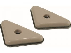 2-Inch Adhesive Slide Glide Triangle Furniture Sliders, Beige, 4-Pack