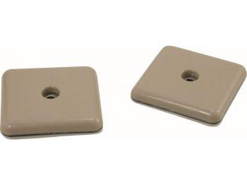 2-1/8-Inch Square, Adhesive Slide Glide Furniture Sliders, Beige, 4-Pack