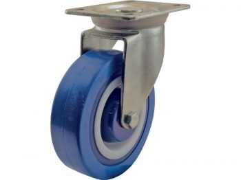 5-Inch Swivel Plate Polyamide Caster, 440-lb Load Capacity