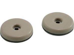 2-3/4-Inch Round, Adhesive Slide Glide Furniture Sliders, Beige, 4-Pack