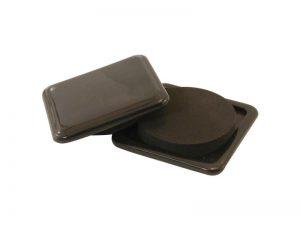 3-Inch Reusable, Slide Glide Furniture Mover Pads, Black, 4-Pack