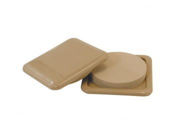 3-Inch Reusable, Slide Glide Furniture Mover Pads, Beige, 4-Pack