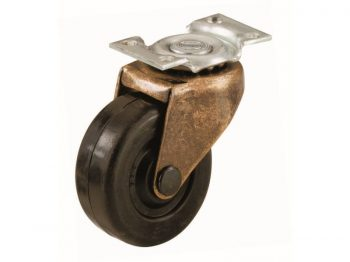 1-5/8-Inch Medium Duty Plate, Copper & Black Caster, 2-Pack