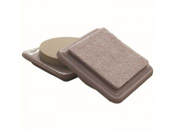 3-Inch Reusable, Heavy Duty Furniture Mover Pads, Felt, Beige, 4-Pack