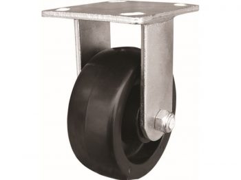 5-Inch Polypropylene Wheel Rigid Plate Caster, 500-lb Load Capacity