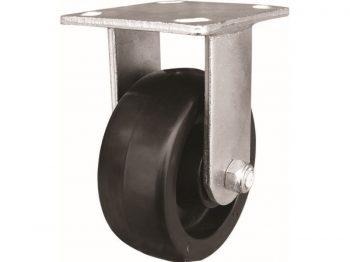 5-Inch Polypropylene Wheel Rigid Plate Caster, 500-lb Load Capacity