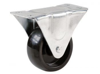 4-Inch Polypropylene Wheel Rigid Plate Caster, 255-lb Load Capacity