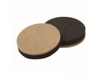 3-1/2-Inch Reusable, Round, Heavy Duty FeltGard Slider Pads, 4-Pack