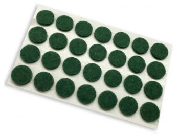 3/8-Inch Self-Adhesive Felt Furniture Pads, 28-Count, Green