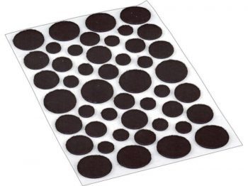 Self-Adhesive Felt Surface Protection Pads, Assorted Sizes, 46-Count, Brown