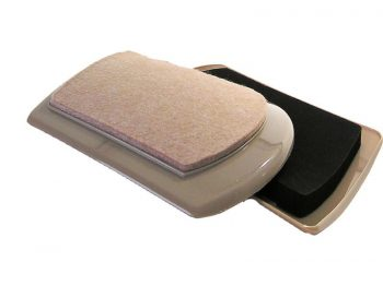 5-5/8-Inch x 8-1/4-Inch Heavy Duty, Reusable Felt Furniture Mover Pads, Beige, 4-Pack