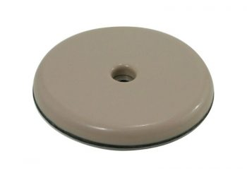 1-1/2-Inch Round, Adhesive Slide Glide Furniture Sliders, Beige, 4-Pack