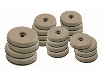 1-Inch and 1-1/2-Inch Round, Adhesive Slide Glide Furniture Sliders, Beige, 20-Count