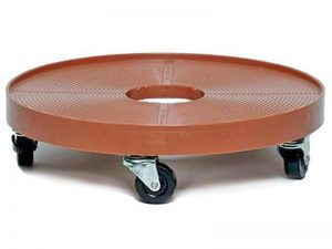 1-1/2-Inch Swivel Plate Soft Rubber Caster, 40-lb Load Capacity