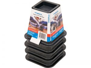 6-Inch Molded Bed Risers, Black Finish, 4-Count