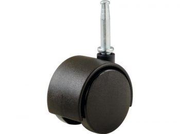 2-Inch Office Chair Stem Caster, Twin Wheel, 1-Pack