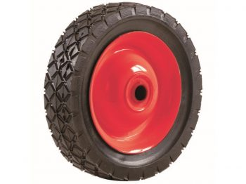 7-Inch Semi-Pneumatic Rubber Tire, Steel Hub with Grafoil Bearings, Diamond Tread, 1/2-Inch Bore Offset Axle