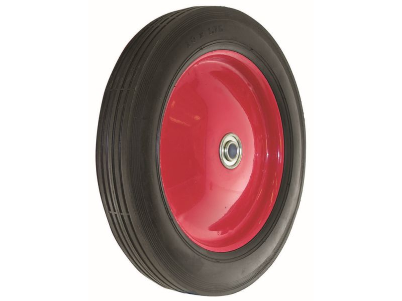 10 Inch Semi Pneumatic Rubber Tire Steel Hub With Ball