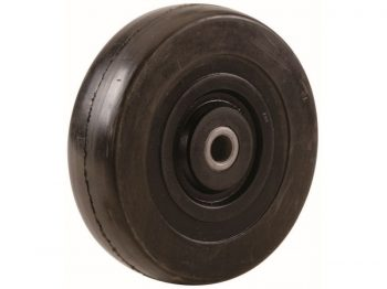 8-Inch Hand Truck Replacement Wheel, Solid Rubber, 2-1/2-Inch Ribbed Tread, 5/8-Inch Bore Offset Axle