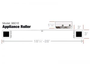 Stamped Steel Adjustable Appliance Rollers, 2-Pack