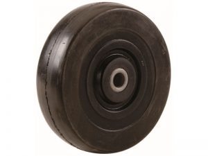10-Inch Hand Truck Replacement Wheel, Solid Rubber, 2-1/2-Inch Ribbed Tread, 5/8-Inch Bore Offset Axle
