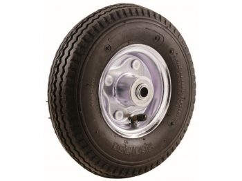 4.10x10-Inch Pneumatic Replacement Tire, 10-Inch, Sawtooth Tread, 3-1/2-Inch Offset Hub, 5/8-Inch Axle Diameter, Ball Bearings