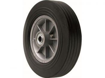 12-Inch Hand Truck Replacement Wheel, Solid Rubber, 2-5/8-Inch Ribbed Tread, 3/4-Inch Bore Centered Axle