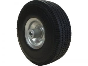 10-Inch Flat Free Tire, 3-Inch Sawtooth Tread, 5/8-Inch Bore Offset Axle