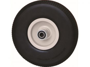 15-Inch Flat Free Tire, 3-3/4-Inch Knobby Tread, 5/8-Inch Bore Centered Axle