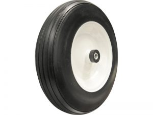 14-Inch Flat Free Tire, 3-Inch Ribbed Tread, Universal Fit with Spacers and Bushings