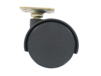 2-Inch Office Chair Plate Caster, Twin Wheel, 1-Pack