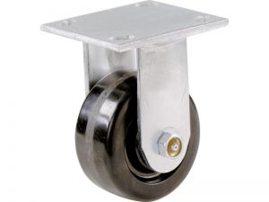 6-Inch Phenolic Rigid Plate Caster, 840-lb Load Capacity