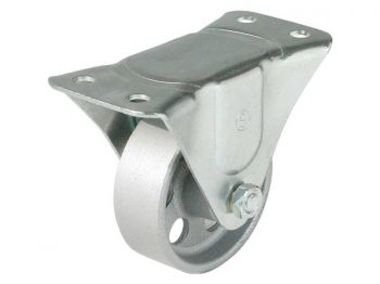 3-Inch Rigid Cast Iron Caster, 250-lb Load Capacity